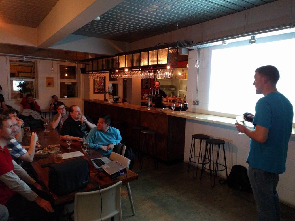 Simon Gunton giving Auto Trader presentation